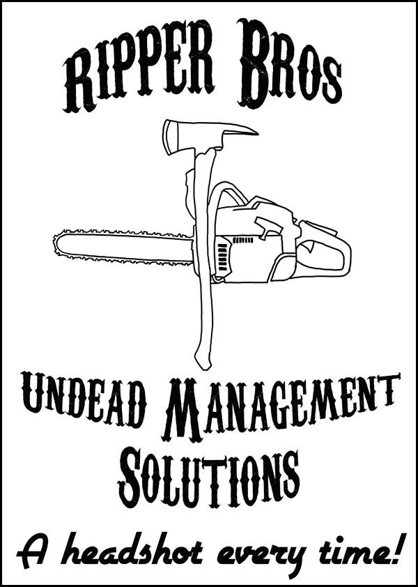 ripper bros logo zombie party institut francais